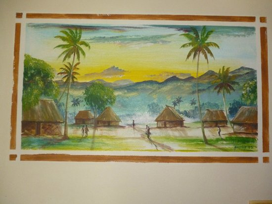 Travellers Beach Resort: Hand-painted wall art