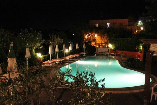 Hotel Terme La Pergola : Piscina principale con lettini e ombrelloni...(per tutti...e non è poco)