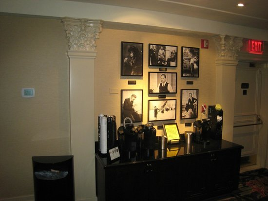 The Algonquin Hotel Times Square, Autograph Collection : Part of 2nd floor business centre; photos of members of the Round Table