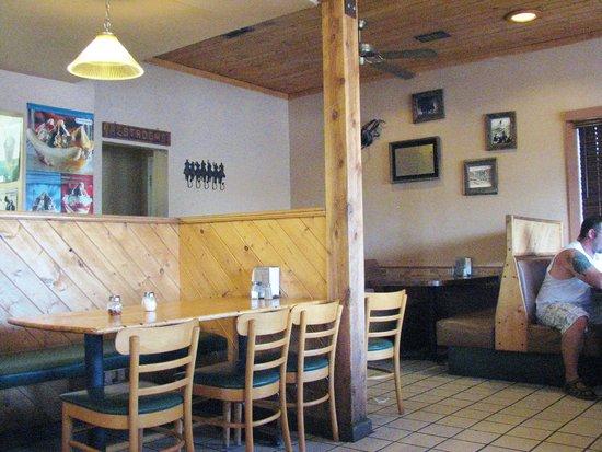 Sundance Pizza and Tastee Freeze: cowboy-themed interior