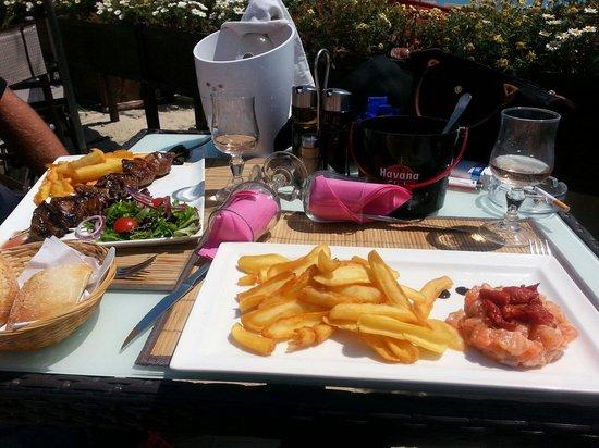 Beach Club: Notre repas