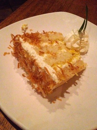 Tommy Bahama's Restaurant & Bar : Small Version of Pina Colada Cake = $6 and plenty for 2 people