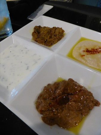 Mazadar Kabob: Mediterranean Sampler appetizer