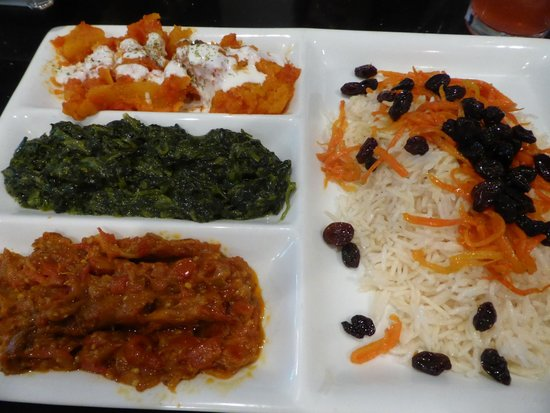Mazadar Kabob: Vegetarian Sampler