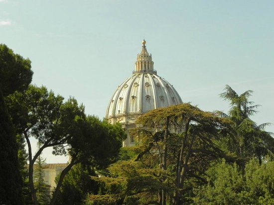 Private Tours of Rome - Vatican, Sistine Chapel and Colosseum Tours : St Peters Dome from outside Museum
