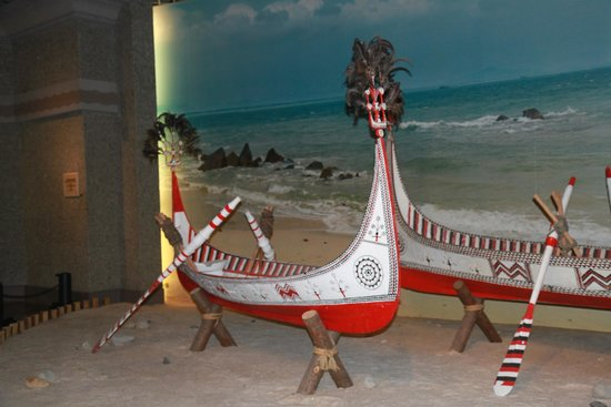 Museo de Historia de Shanghai: Taiwanese boats in costume section