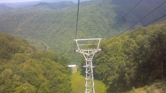 Pipestem State Park: Arial Tram ride
