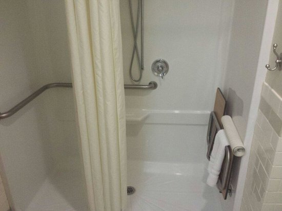 Navy Gateway Inn Pensacola: Horrible shower in the handicap room that floods everything.