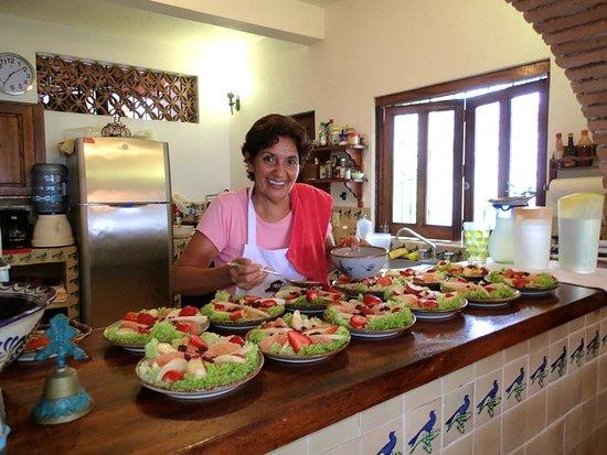 Casa Carole: Mari and her delicious meals