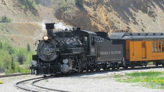 Molas Pass: Train entering Silverton from Durango, great ride, especially from the open air cars.