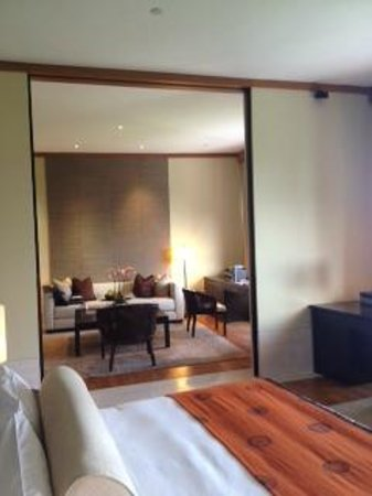 Capella Singapore: View to living area
