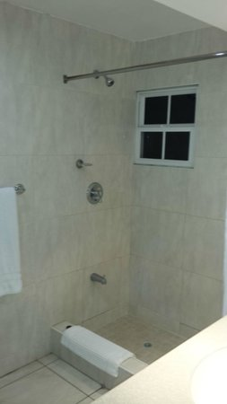 The Normandie Hotel & Conference Centre: The Large Shower