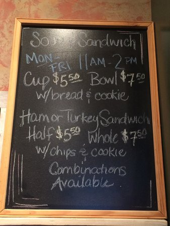 Red Door Cafe: lunch menu