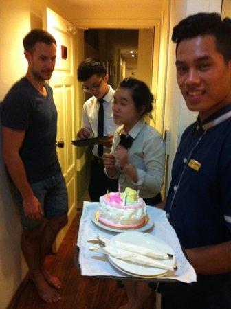 Hanoi Art Boutique Hotel: Birthday celebrations! Thank you Art Boutique Hotel!!