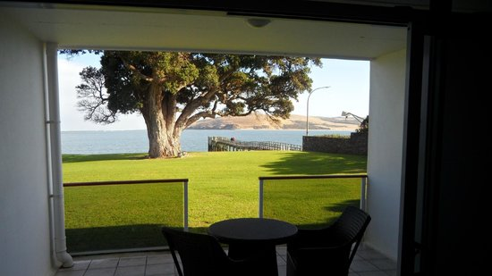 Copthorne Hotel & Resort Hokianga: The balcony, the lawn, the harbour