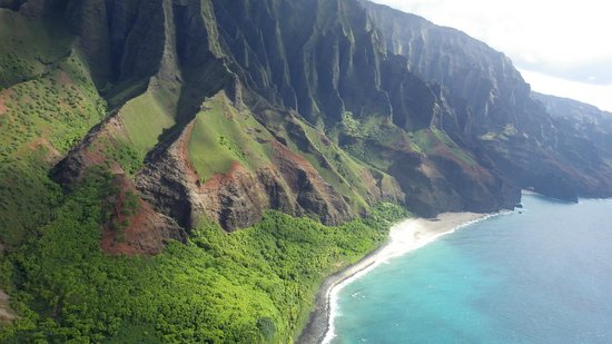 Poipu Sands Condominuims - Poipu Kai by TPC: Na'Pali Coast from Helicopter