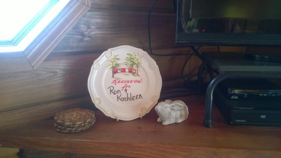 Shawnee Hill Bed and Breakfast : Our Welcome plate