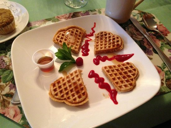 Deerfield Spa: whole wheat waffles