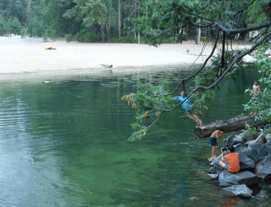 Housekeeping Camp: Swimming hole in the Merced (seasonal only when water levels are calm and just right)