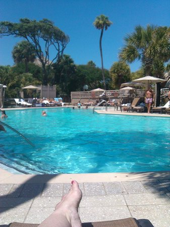 Omni Hilton Head Oceanfront Resort: The view from the adult pool