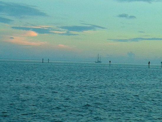 Postcard Inn Beach Resort & Marina: The view at dinner!  ��