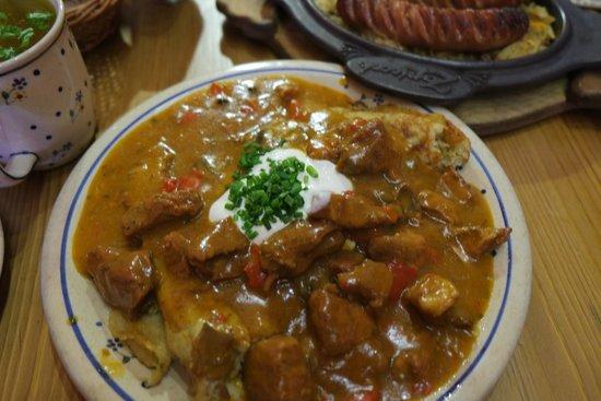 Polish pork goulash