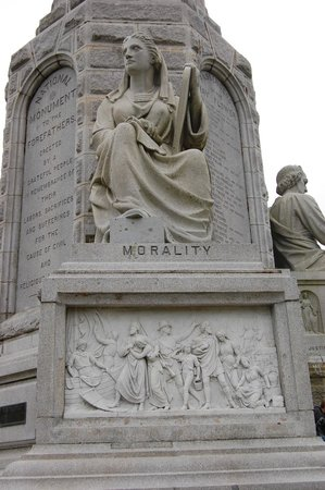 National Monument to the Forefathers: Morality