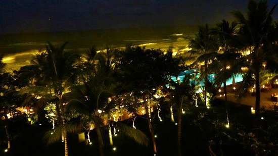 The Legian Bali: View from the room at night.