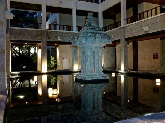 The Legian Bali : Feature outside the Spa and Gym.