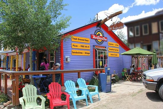 Avalanche Brewing Company: Side view of the Avalanche Café in Silverton, Colorado. What a treat this place is!