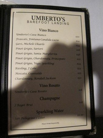Umberto's: Wine List