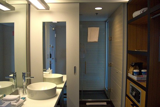 Aloft Chicago City Center: Room 1803 / Vanity, Shower, and Storage Area