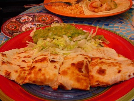 Salsalito Taco Shop: Quesadilla for less adventurous, still yummy!