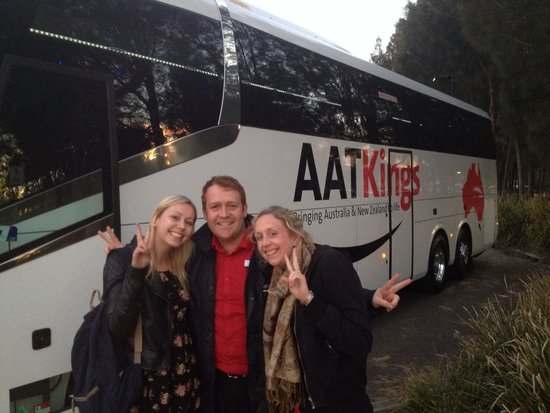 AAT Kings Sydney Day Tours: Our great tour guide David :) What a wonderful day! Claire and Katharine :)