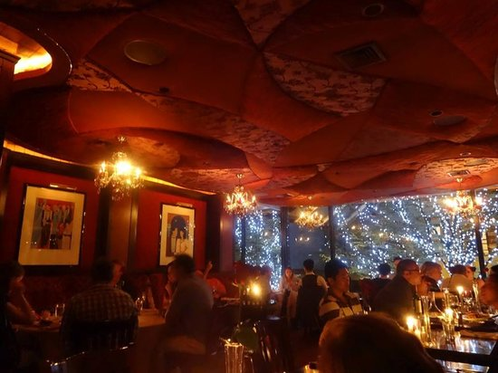 Club A Steakhouse: The upstairs seating area