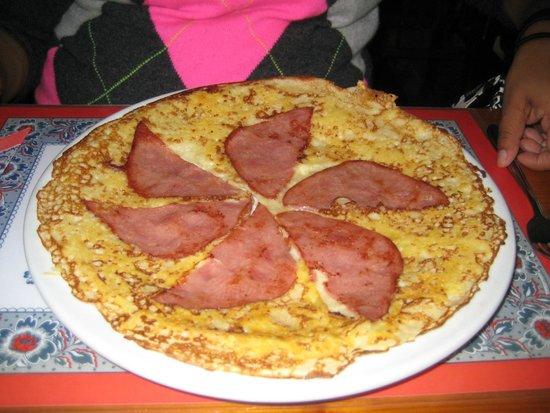 Pancake Corner: Ham & Cheese pancake