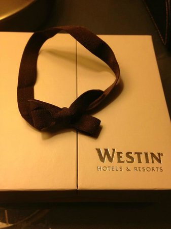 The Westin South Coast Plaza : Westin chocolate!