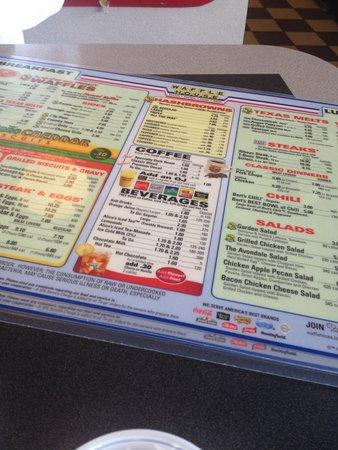 Waffle House: Menu