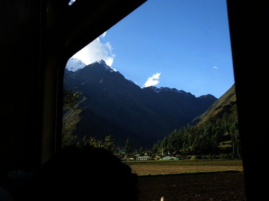 Train Hiram Bingham : Vista de los nevados desde el tren