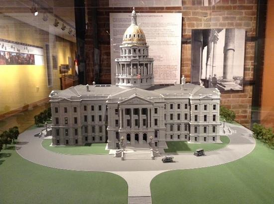 Colorado State Capitol: Model of the Capitol found in the museum
