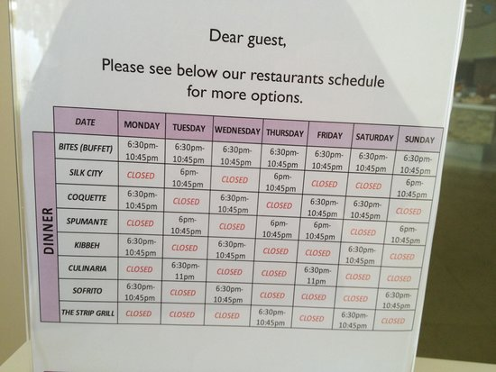 Breathless Punta Cana Resort Spa Restaurant Schedule