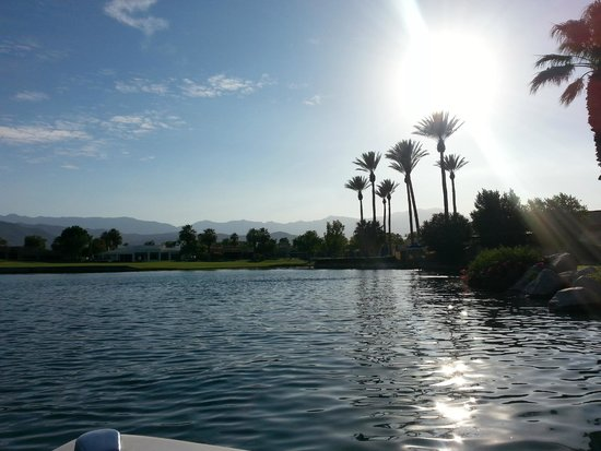 JW Marriott Desert Springs Resort & Spa: on a boat tour of the grounds