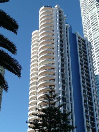 Aegean Apartments: Aegean building