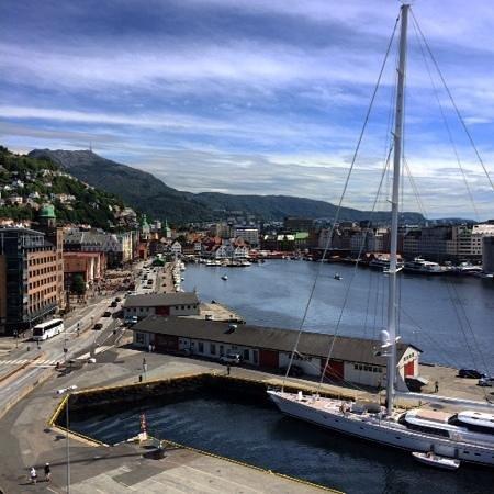 Rosenkrantz Tower - Bymuseet i Bergen: Bergen med Vågen sett fra Rosenkrantztårnet