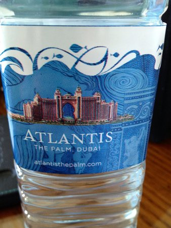 Atlantis, The Palm: Water bottle at the hotel