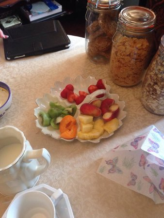 Salem House Bed & Breakfast: Fresh fruit at breakfast!