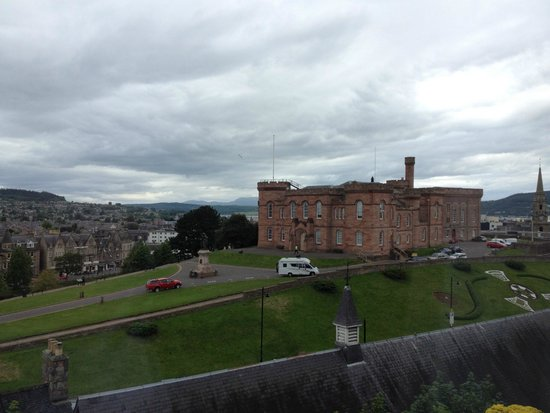 Ardentorrie Guesthouse: View from our room overlooking Inverness castle