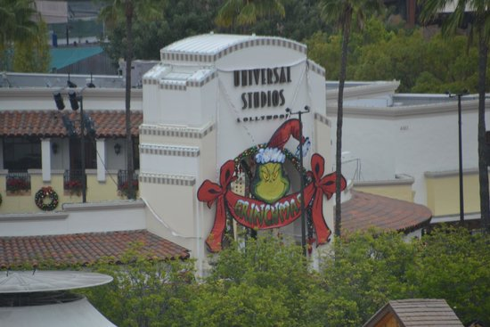 Hilton Los Angeles/Universal City: Our view of Universal Studios from our hotel room