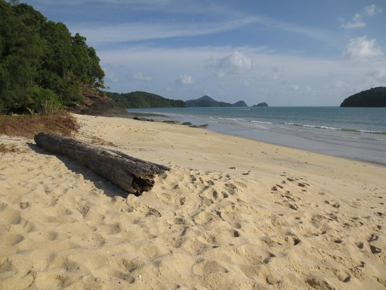 The Frangipani Langkawi Resort & Spa : beach at far end of resort - by saltwater pool