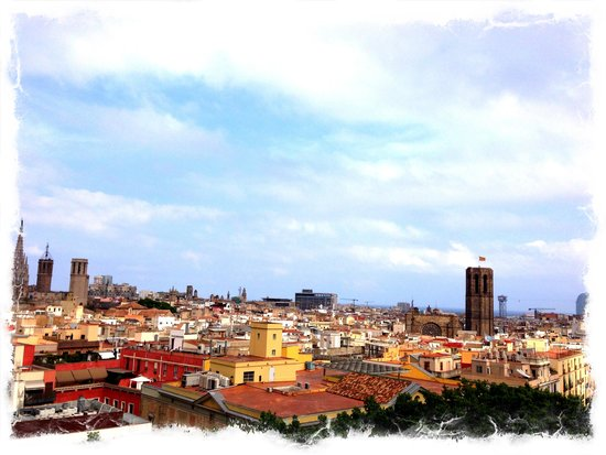 Le Meridien Barcelona: The view from our room balcony